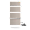 DIMOL Standart 07 полотенцесушитель электрический 370 Вт (кремовый/белый)