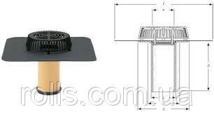 Ремонтная воронка SitaSani 110 Spezial DN110 c ПВХ фартуком, для подключения к трубам DN125мм