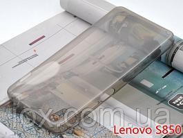 Прозрачно-черный силиконовый чехол для Lenovo S850