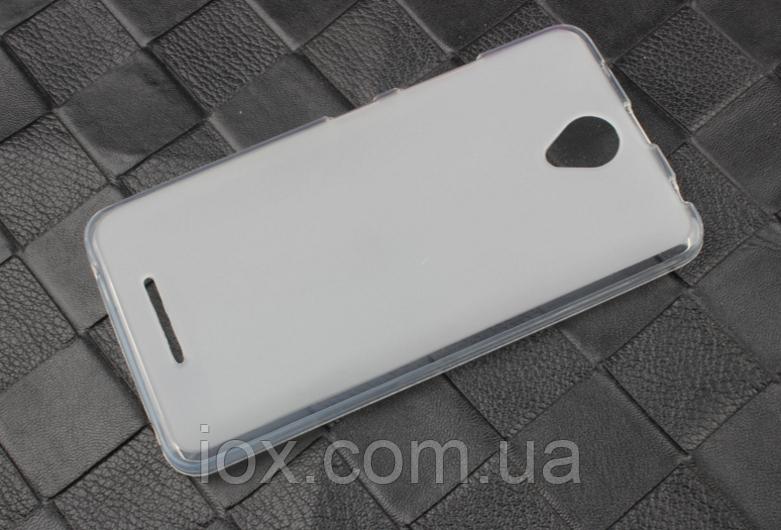Прозрачно-белый силиконовый чехол для Lenovo A5000