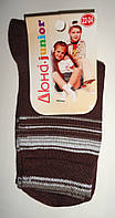 Шкарпетки дитячі демісезонні коричневого кольору, р. 22-24, фото 1