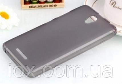 Прозрачно-черный силиконовый чехол для Lenovo A5000