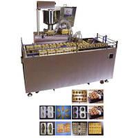 Автоматическая машина формования и выпечки кондитерских бисквитных изделий с начинкой типа мишки Барни AWC-28
