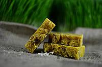 """Лечебное органическое мыло """"ПШЕНИЧНОЕ"""" на корнях пшеницы с аювердическим порошком куркумы"""