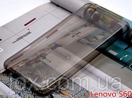 Силиконовый прозрачно-черный чехол для Lenovo S60