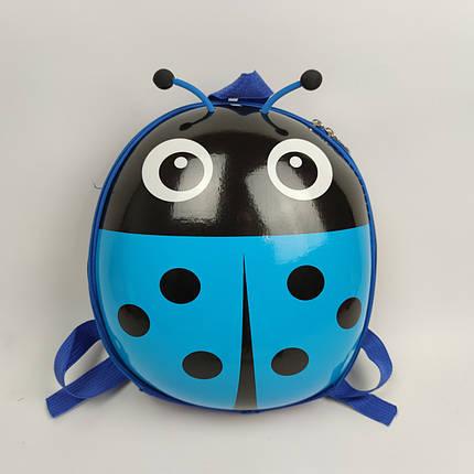 Рюкзак детский Божья коровка голубой   ТОЙС, фото 2