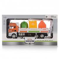 Грузовой мусоровоз Na-Na c прицепом, оранжевый IM306/OR