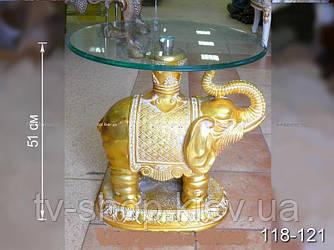 Столик журнальный Слон в золоте,51 см