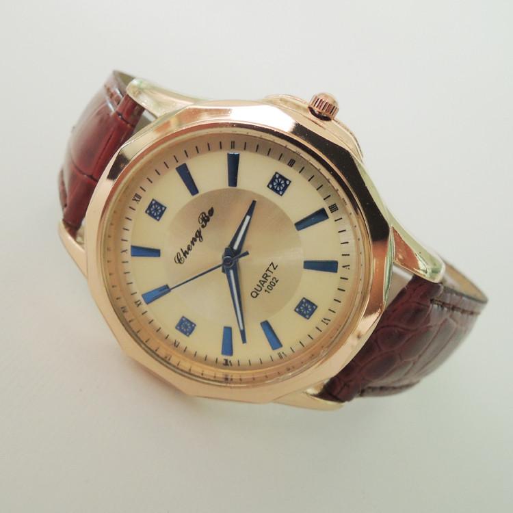 Кварцевые часы Shangry brown