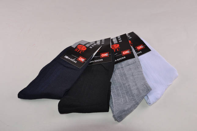 Мужские носки однотонные разных цветов (A366W) | 12 пар, фото 2