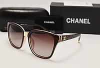 Женские солнцезащитные очки Chanel 1725 коричневый цвет, фото 1