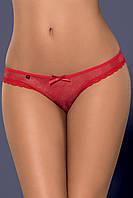 Красные кружевные трусики Obsessive Romansia panties