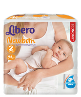 Подгузники Libero Newborn Mini 2 (3-6 кг) 72 шт.