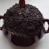 Черная икра в горшочке размер 15*13
