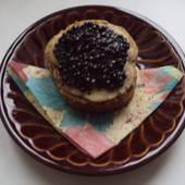 Бутерброд с черной икрой размер 12*3