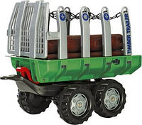 Прицеп детский для перевозки древесины Rolly Toys 122158