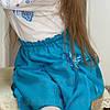 Спідничка дитяча габардинова (блакитна)