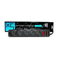 Сетевой фильтр удлинитель LogicPower LP-X5, 5 розеток, цвет-черный, 3 m: