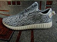 Мужские беговые кроссовки Adidas Yeezy Boost серые 40-45