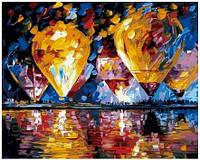 Картина по номерам Роспись на холсте Воздушные шары над водой KH1012 40*50 см