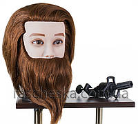"""Голова манекен с бородой """"Fedor"""" натуральный волос"""