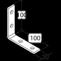 Уголок узкий KW 5 (100 мм х 100 мм х 20 мм х 4 мм)  Domax Польша строительный крепеж