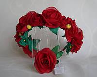 Обруч-веночек Красные цветы, фото 1