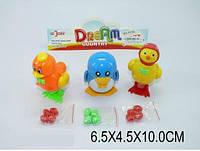 Заводные животные-несушки 919A   набор 3 животных, в пакете 10-6,5-4,5см