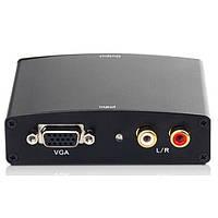 Конвертер VGA-> HDMI Atcom (HDV01) VGA + 2RCA to HDMI (мама-> мама, упаковка: блистер)