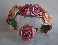 Обруч Атласні троянди, фото 1