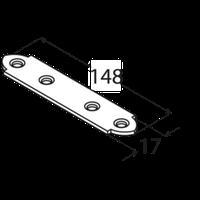 Крепление узкое LW 4 (148 мм х 17 мм х 2 мм) Domax Польша строительный крепеж