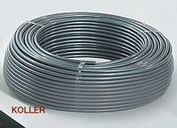 Труба антидиффузионная для отопления (б. 200м.) 16х2 PE-RT Koller (серая - матовая)