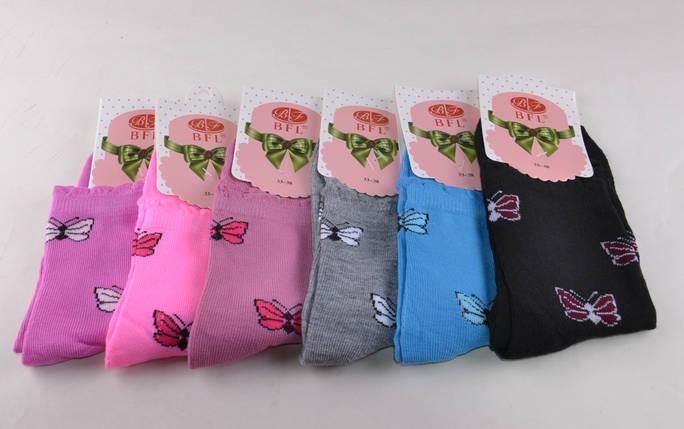 Детские носки Бабочка однотонные р.33-38 (C221)   12 пар, фото 2