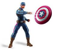 Говорящая игрушка Капитан Америка 25СМ + Летающий щит,  Hasbro, фото 1