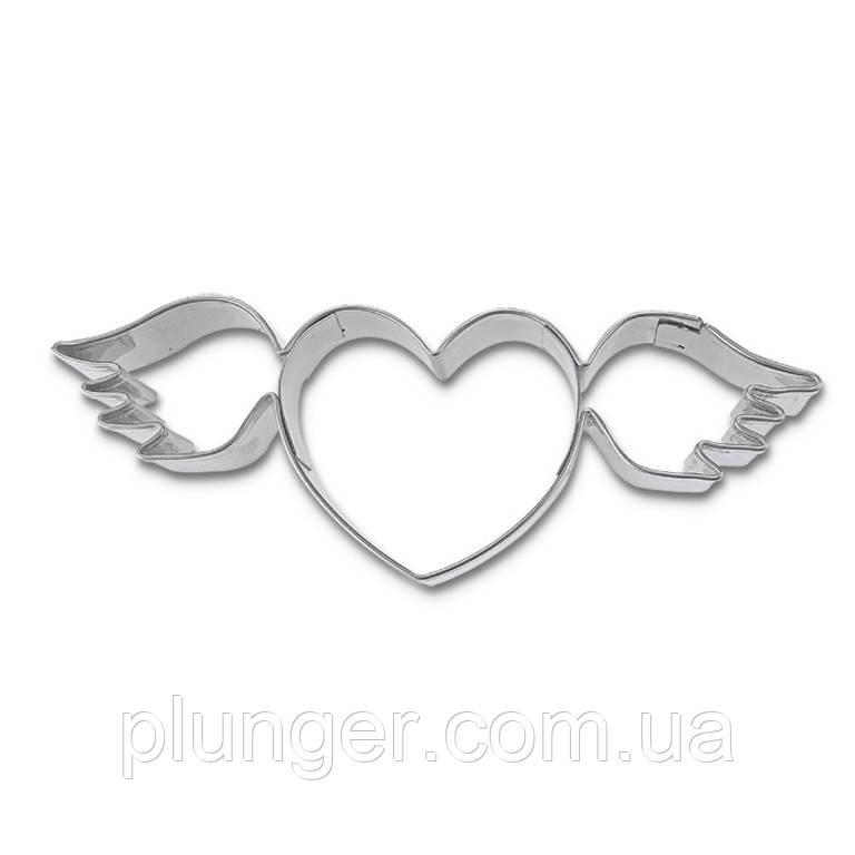Вирубка для пряника Серце з крилами