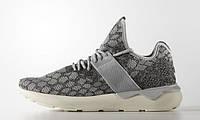 Кроссовки женские Adidas Tubular Runner Stone Grey (адидас) серые