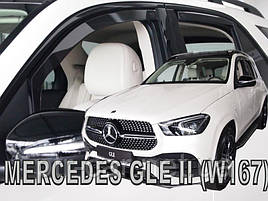 Дефлекторы окон (ветровики) Mercedes GLE-class W167 2019+ 5D 4шт (Heko)