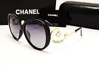 Женские солнцезащитные очки Chanel 1663 черный цвет, фото 1