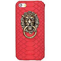 Чехол-накладка Lion Metal Ring для iPhone 6 красный