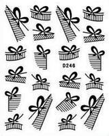 """Наклейка на ногти, наклейка для ногтей, ногтевой дизайн """"бантики"""" 20 шт набор"""