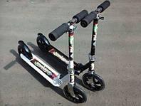 Самокат подростковый алюминий 2 колеса PU (200 мм) Черный