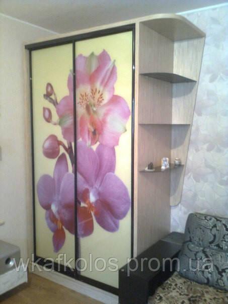 шкаф купе двери фотопечать орхидея продажа цена в харькове