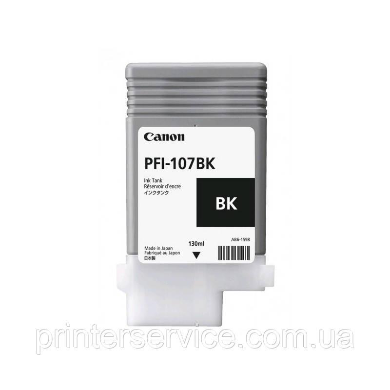 Картридж PFI-107BK Black для плоттера Canon iPF 670/ 680/ 685/ 770/ 780/ 785, черный, 130 мл (6705B001)