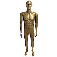 Манекен золотой реалистичный мужской в полный рост