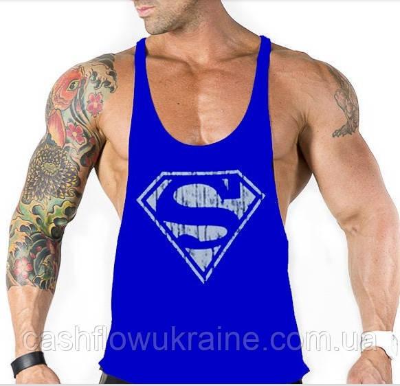 d420cf9e4ea Майка с большим вырезом Superman Blue  392 - купить по лучшей цене в ...