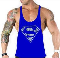 Майка с большим вырезом Superman Blue #392