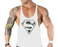 Майки с вырезом по бокам Superman White #393