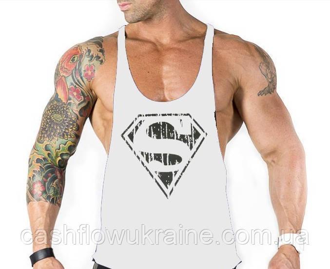Майки с вырезом по бокам Superman White #393 - купить по ... - photo#46
