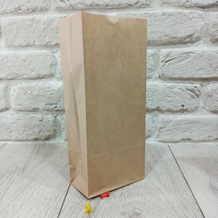 Пакет паперовий 26*9*6,5 см 70 г\м2 коричневий з дном уп. 25 шт.