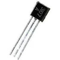 КТ3107А транзистор PNP (200мА 45В) (h21э: 70-140) 0,2W (ТО92)